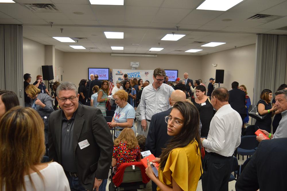 Residential Habilitation Association Members at the Hispanic Mayoral Debate in Tampa Florida