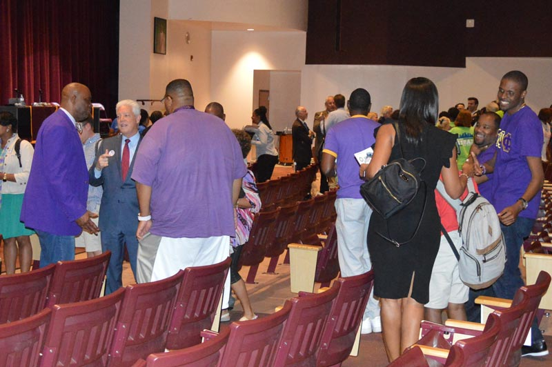 Residential Habilitation Association members at the NAACP Mayoral Debate in Tampa